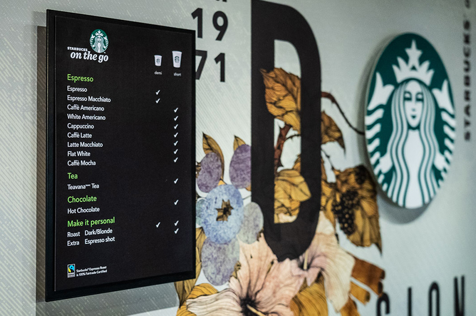 Starbucks on the go Workplace - A selection of coffeehouse favourites​